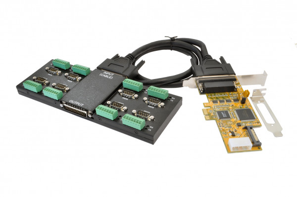 PCIe 8S Seriell RS-232/422/485 Module