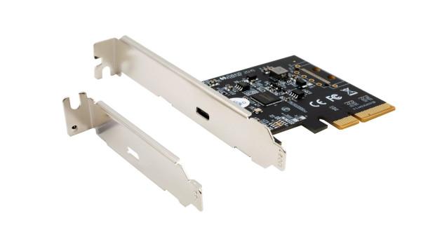 USB 3.2 Gen2x2 PCIe (x4) Karte mit 1 Ports C-Anschluss