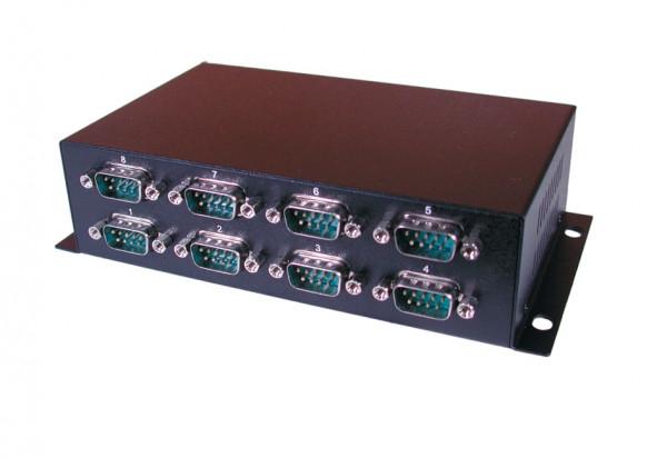 USB zu 8 Seriell RS-232, Metall-Gehäuse, FTDI