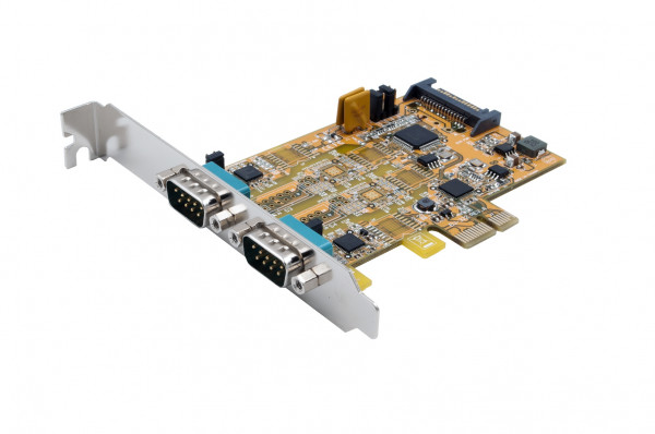 PCIe 2S Seriell RS-232/422/485, (FTDI)