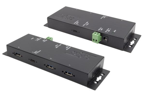 4 Port USB 3.2 Gen1 Metall HUB, 1 x PD C-Anschluss