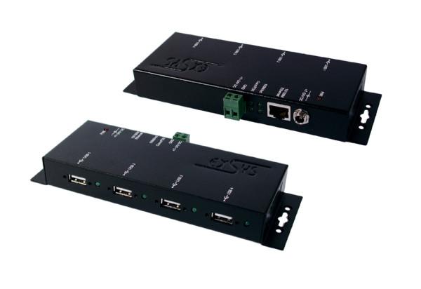 Ethernet 1Giga zu 4 x USB 2.0 Ports Metallgehäuse