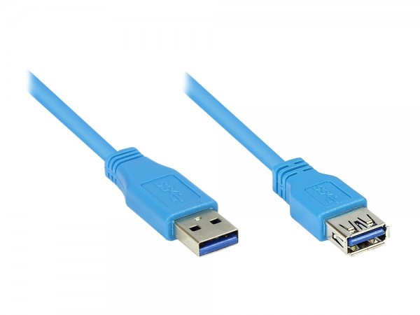 Verlängerung USB 3.2 Gen1 Stecker A an Buchse B, 5m