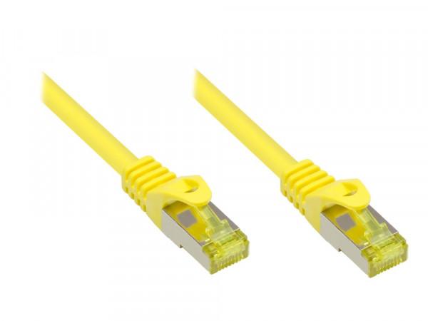 Patchkabel, Cat. 7 S/FTP PiMF, gelb, 0,25m