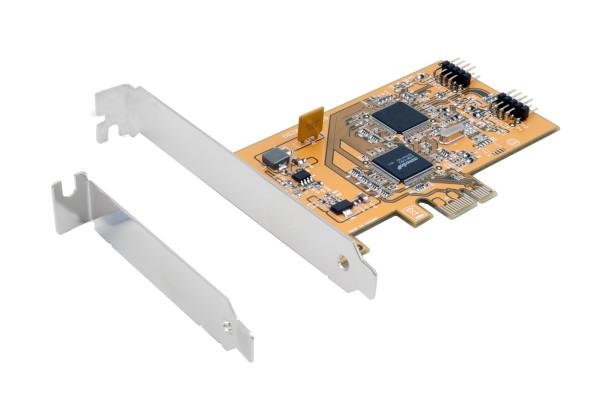 USB 2.0 PCIe Karte mit 3 internen Ports, LP