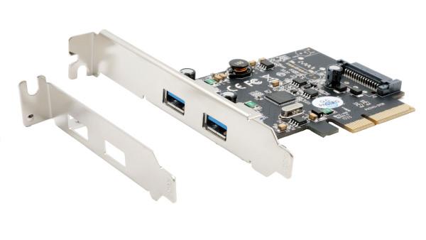 USB 3.2 Gen2 PCIe (x2) Karte mit 2 x A-Ports (Asmedia)