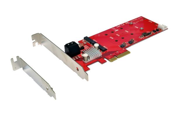 RAID AHCI 6Gbps 2x M.2 NGFF + 2x SATA LP PCIe 2.0