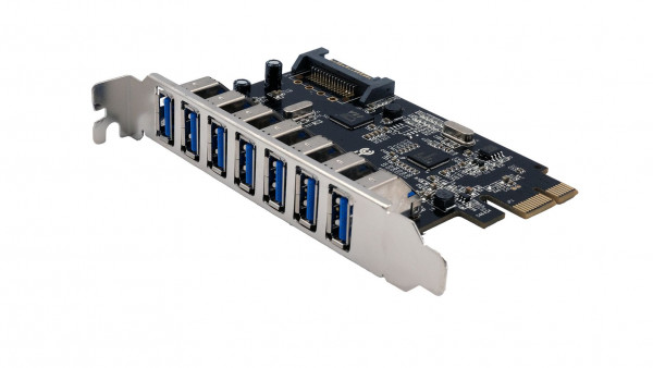 USB 3.2 Gen1 PCIe Karte mit 7 Ports (Chip-Set Renesas)