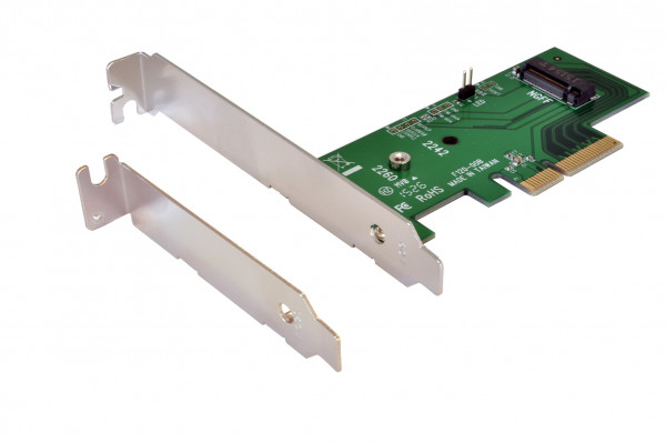 PCIe x4 to PCIe M.2 NGFF LP Adapter