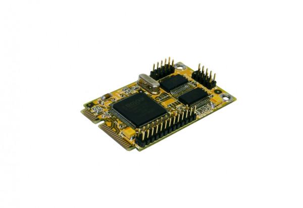Mini PCIe 2S Seriell RS-232/1P Parallel Multi I/O