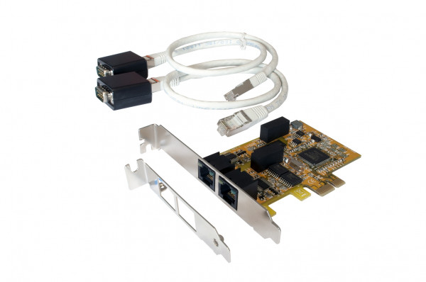 PCIe 2S Seriell RS-232, 4KV Optical Isolation