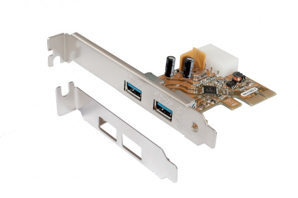 PCIe USB 3.2 Gen1 Karte mit 2 Ports (Renesas Chip-Set)