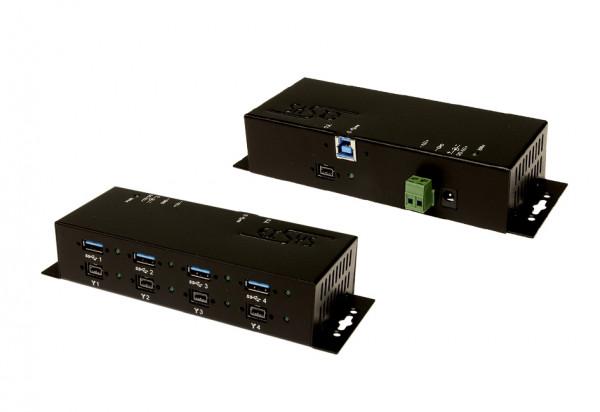 USB 3.0 + FireWire 1394B Metall HUB, je 4 Port