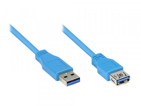 Verlängerung USB 3.2 Gen1 Stecker A an Buchse B, 3m