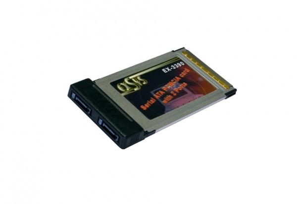 PCMCIA zu S-ATA mit 2 Ports, Silicon Image