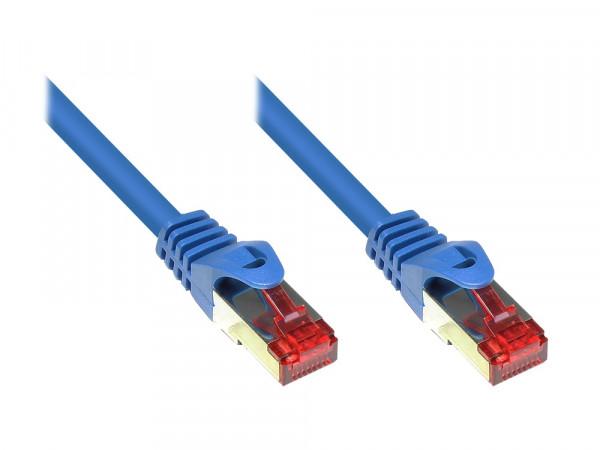 Patchkabel, Cat. 6, S/FTP, PiMF, PVC, 30m, blau