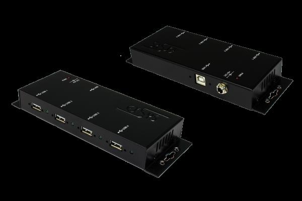 4 Port USB 2.0 Metall-HUB, Kabel verschraubbar
