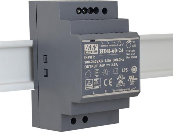 HDR-60-24 Netzteil für EXSYS USB HUB