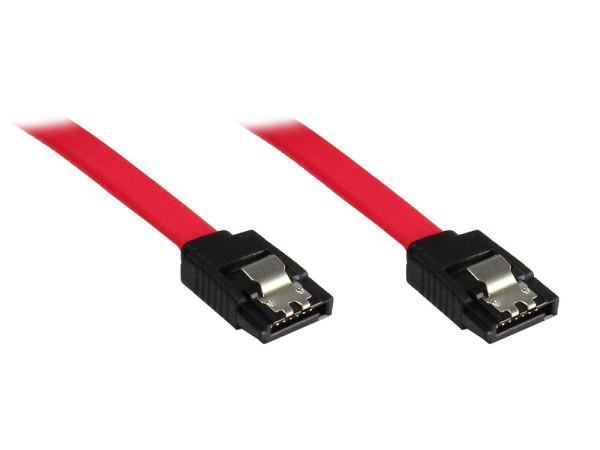 Serial-ATA Kabel mit Metalclip , 0.5 Meter