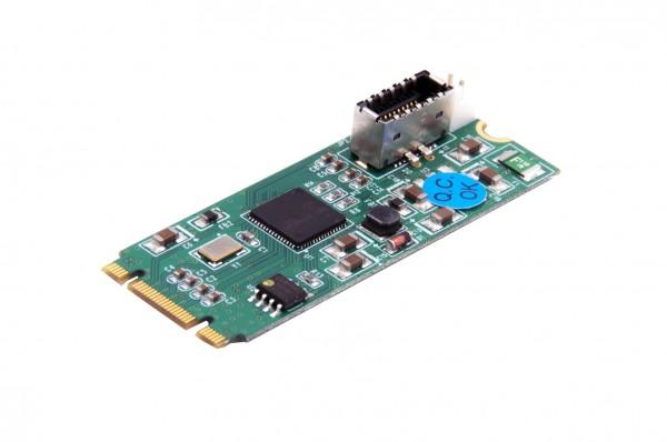 1 Port Interner USB-C 3.1 Gen2 10Gbs M.2 Karte