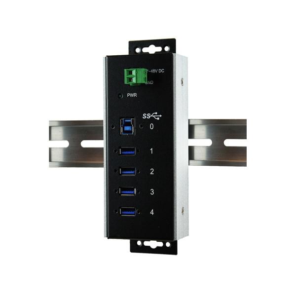 4 Port USB 3.2 Gen1 Metall HUB für Temperaturen von –40°C bis +85°C Grad