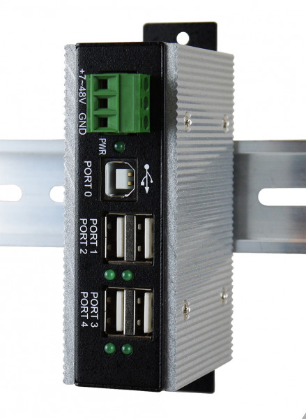 4 Port USB 2.0 Metall-HUB mit erweiterten Temperatur von -40°C bis +85°C