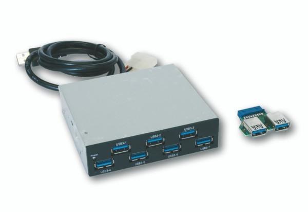 """Interner 7 Port USB 3.2 Gen1 HUB für 3.5"""" Front-Einbau"""