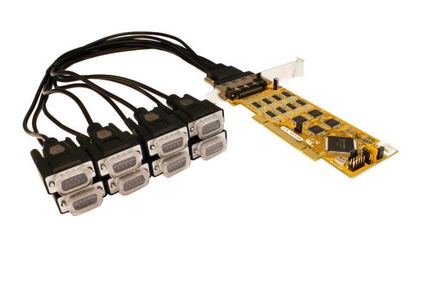 PCI 8S Seriell RS-232/422/485 Combo Karte