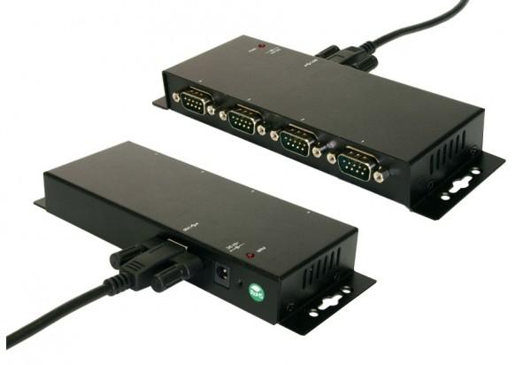 USB zu 4S RS-232, Verschraubbar, Metall, FTDI