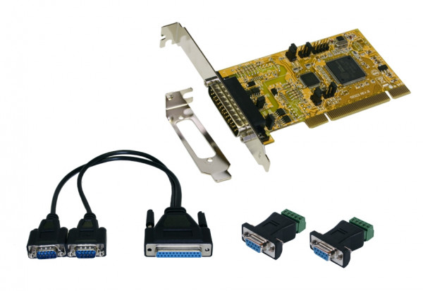 PCI 2S Seriell RS-422/485 Karte, inkl. Low Profile
