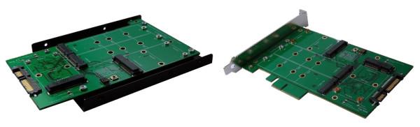 SATA 3 zu M.2 SSDx2 oder mSATA SSD x 2 RAID Karte
