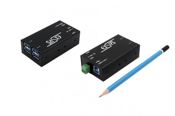 Kleinster 4 Port USB 3.2 Gen1 Metall HUBmit 15KV ESD Überspannungs-Schutz
