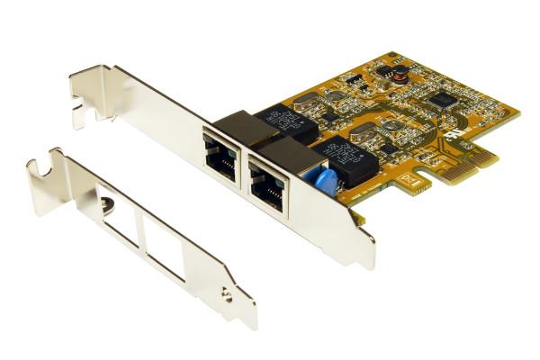 PCIe Dual Netzwerk-Karte mit 2 x 1Gigabit