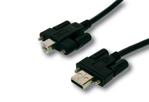 USB Kabel A Stecker - B Stecker 5 M. Verschraubbar