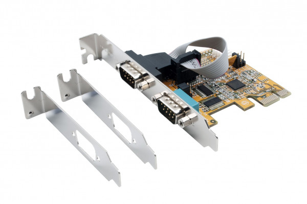 PCIe 2S Seriell RS-232 Karte, ASIX