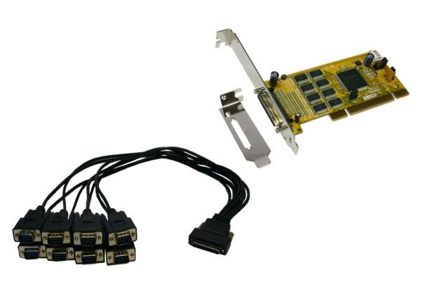 PCI 8S Seriell RS-232-Karte inkl. LowProfile Bügel