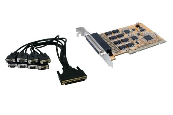 8S Seriell RS-232 PCI Karte (FTDI Chipset)