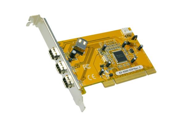 FireWire 1394 PCI-Karte mit 4 Ports (TI Chip-Set)