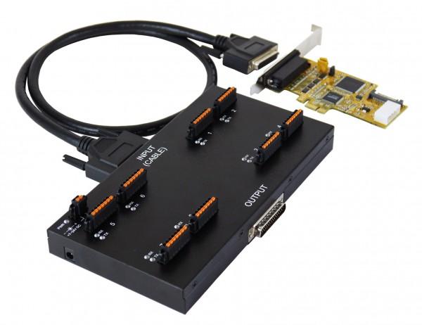 PCIe 8S Seriell RS-232/422/485 Module, 4KV Opto.