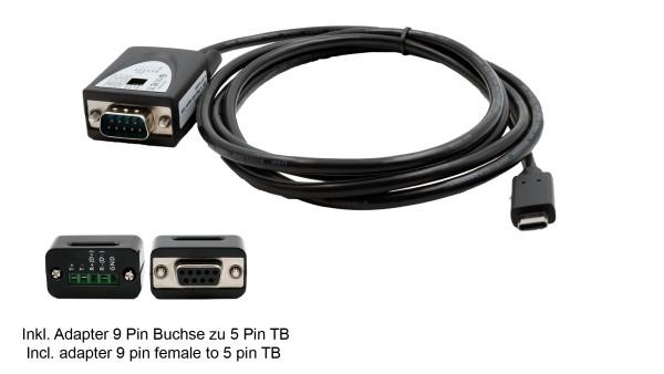 USB 2.0 C-Stecker zu Seriell RS-422/485 Kabel, Surge Protection (FTDI Chip)