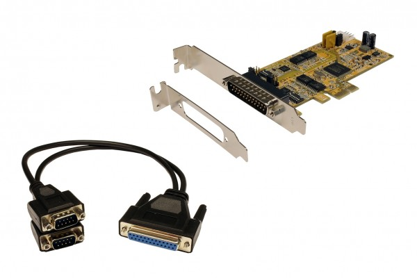 PCIe 2S Seriell RS-232/422/485, LP, (ASIX)