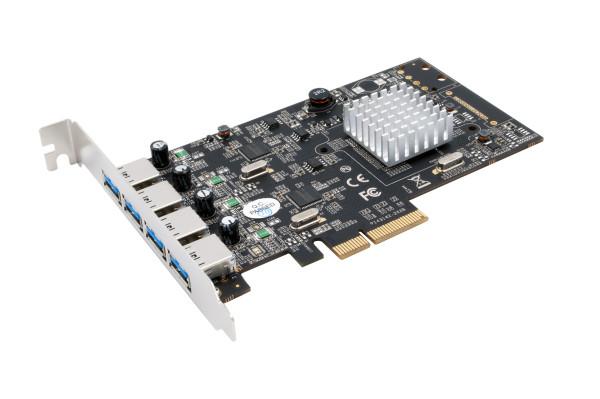 USB 3.2 Gen2 PCIe (x4) Karte mit 4 A-Ports (Asmedia)
