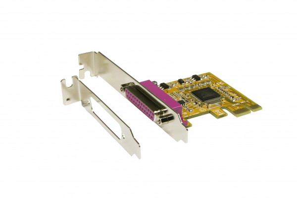 PCIe 1P Parallel-Karte SPP/EPP/ECP, ASIX