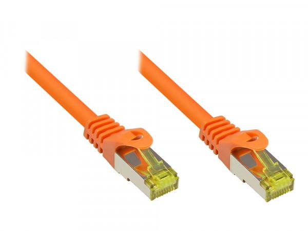 Patchkabel, Cat. 7 S/FTP PiMF, orange, 0,25m