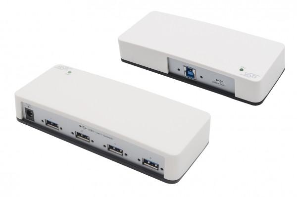 USB 3.2 Gen1 HUB mit 4 Ports 3KV Optische Isolation, Plastik Gehäuse