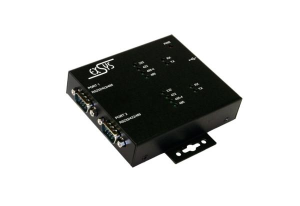 USB 2.0 zu 2S Seriell RS-232/422/485,verschraubbar