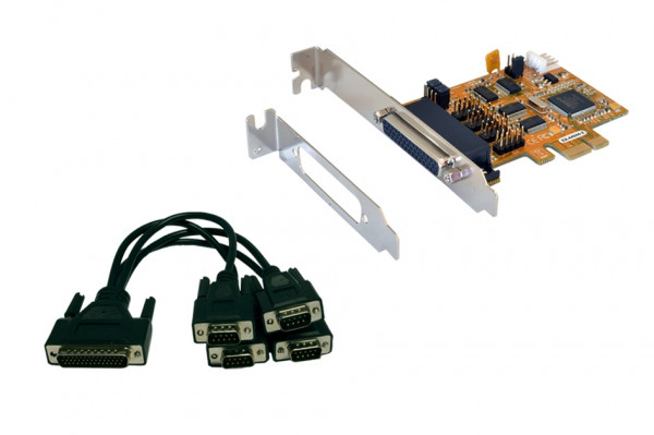 PCIe 4S Seriell RS-232 Karte, MosChip