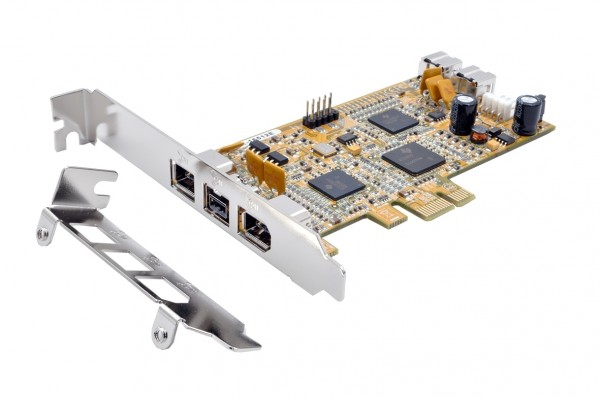 Dual FireWire 1394A PCI-E Karte mit 2 Ports (TI)