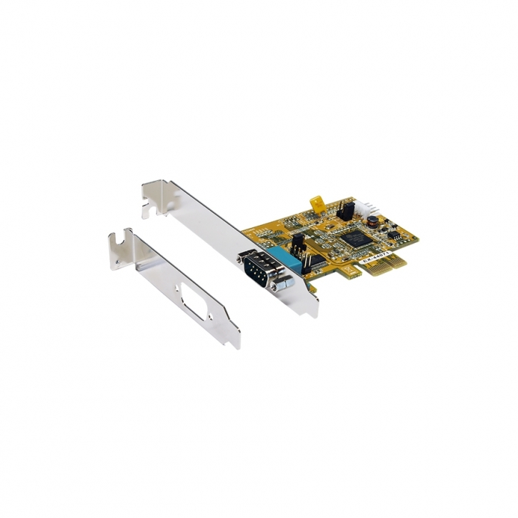 PCIe 1S Seriell RS-232 inkl. Low Profile Bügel (Oxford Chip-Set)