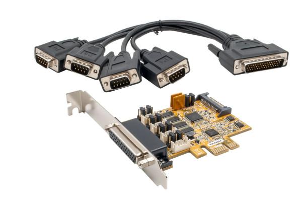 4S PCIe Seriell RS-232 inkl. LP Bügel, FTDI